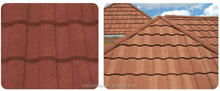 Good Price building materials roof tile colorful sand coated metal cheap roof tiles