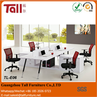 4 people office desk workstation semicircular table