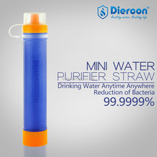 Diercon Hot New Products Private water filter straw Survival Kits purification straw personal for emergency rescue bag(PS01)