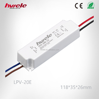 LPV-20E constant voltage waterproof LED driver with CE ROHS CCC KC TUV certification