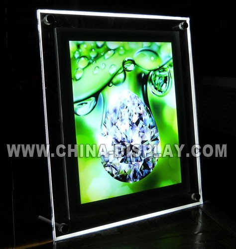 Advertising display crystal acrylic led jewelry photography light box