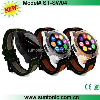 Smart watch Round Shape Screen Bluetooth Smart Wrist Leather Watch for Iphone and Android
