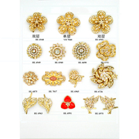 Wholesale Fashion Glod Flower Crystal Glass