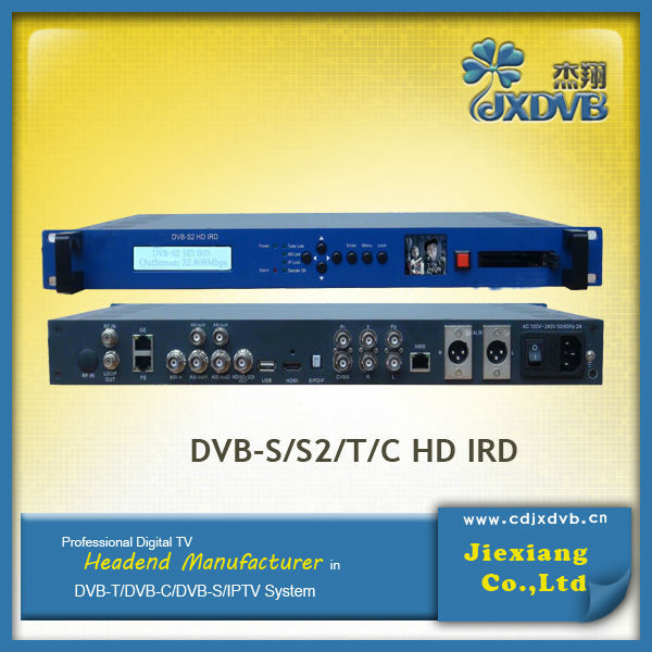 Professional HD Satellite Receiver With CI For DVB-S/S2/T/C/ATSC