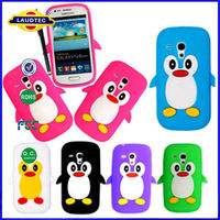 mobile cute penguin silicone case laudtec