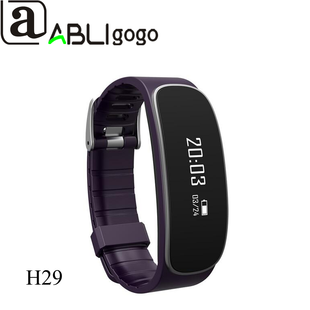 Top Factory H29 Bluetooth Heart Rate Monitor Waterproof Sports Bracelet Sleep Monitor Pedometer Male Wristband - ANKUX Tech Co., Ltd