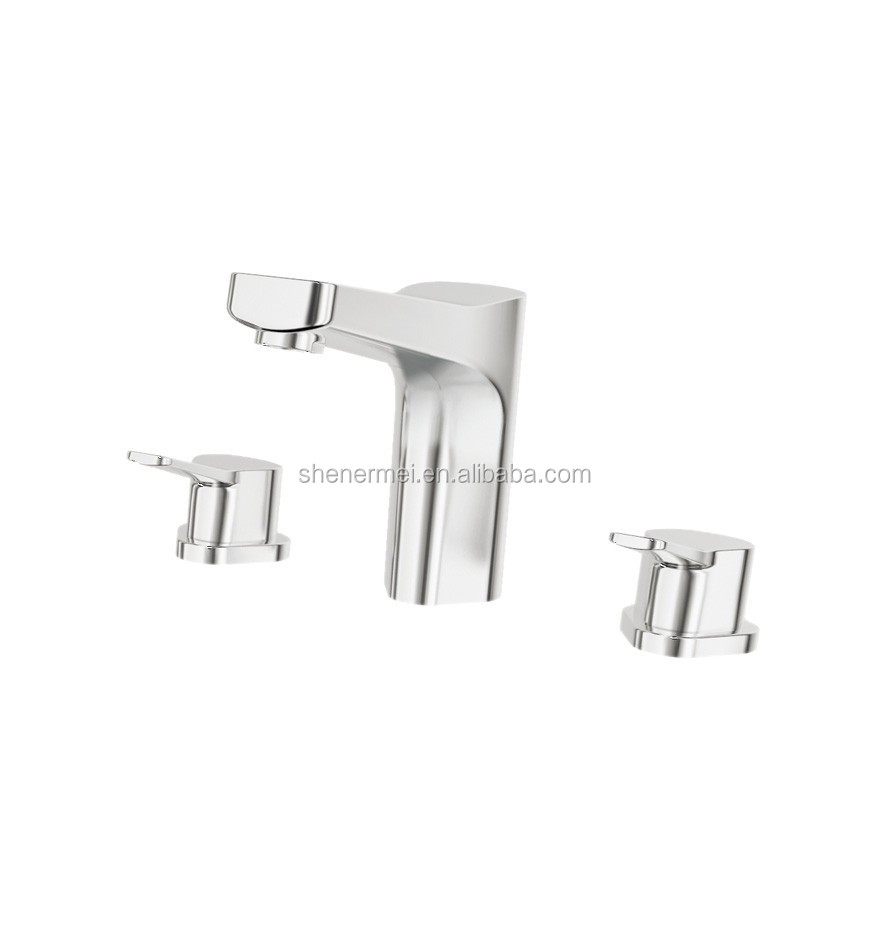 New design ,hot selling,fashing Wall mounted single lever concealed brass basin mixer