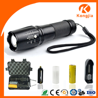 Customed Logo Brightest Strong Light Aluminum 800 Lumens Led Flashlight Torch Light Military Tactical
