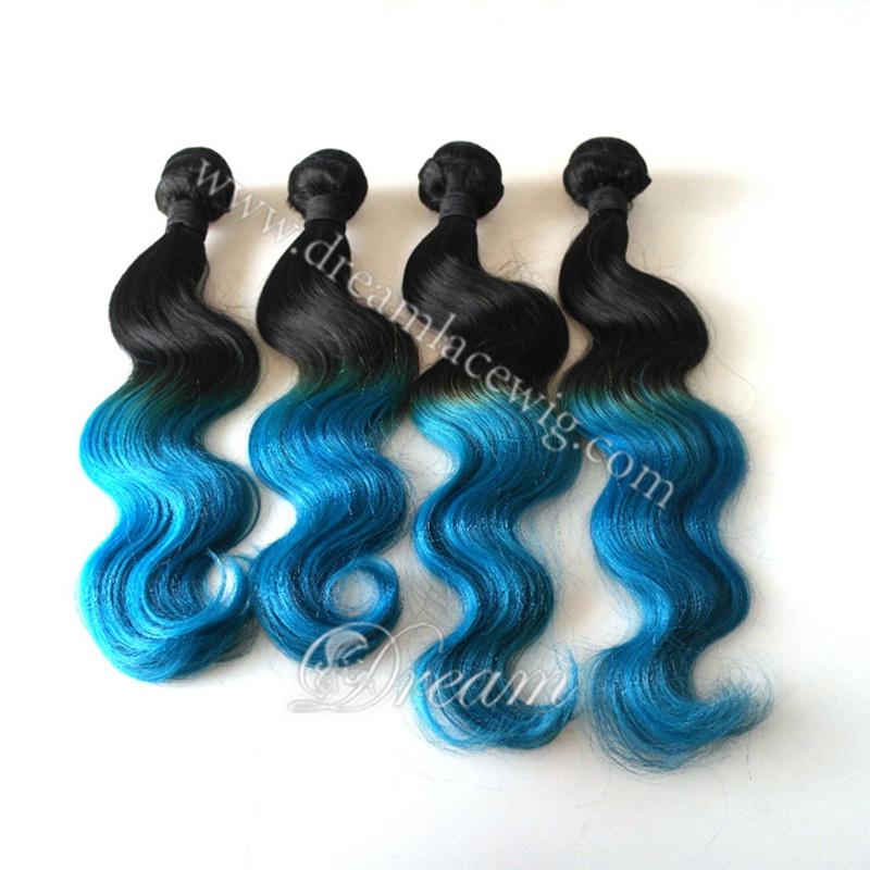 Buy Discount 7a Brazilian Virgin Hair Bluepurple Ombre Human Hair