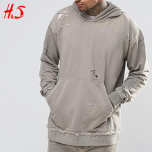 China Suppliers New Custom Fashion Man Pullover Plain Hoody Oversized Distressed Wholesale 100% Cotton Hoodies and Sweatshirts