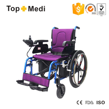 TopMedi folding Aluminum handicapped power electric wheelchair