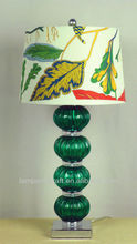 New electrical products special green ball lamp body desk ligting with countryside style for Spanish