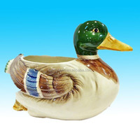 lovely handmade painted ceramic duck ornament from china