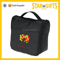 Promotional Black Hanging Useful Women Travelling Cosmetic Bag