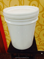 20L white PP Plastic bucket for coating, latex paint, or other chemical products