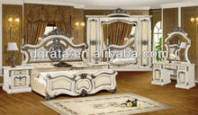 2013 high end bedroom furniture set used full solid wood with carved to be finished
