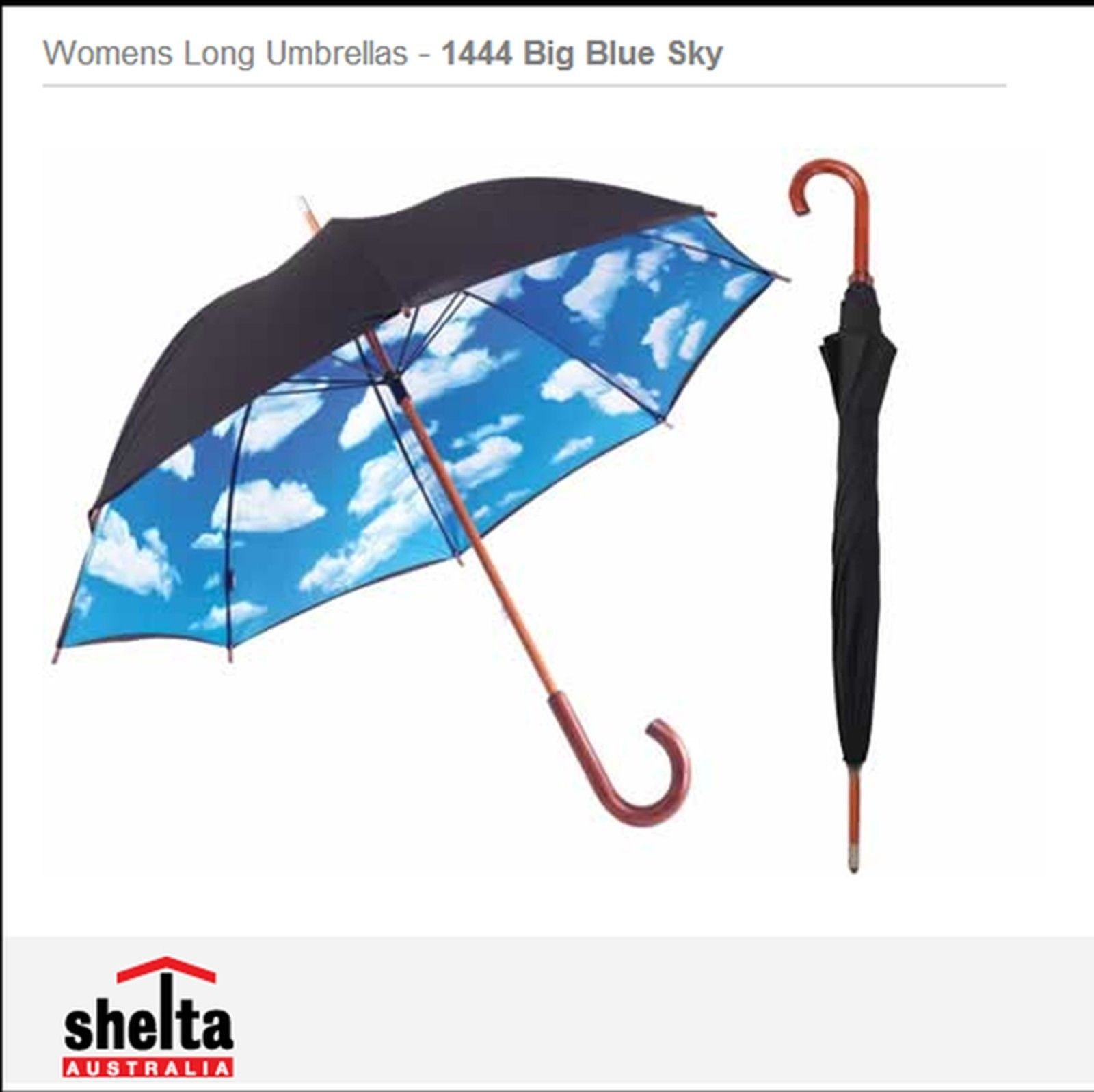 Shelta Womens Long Umbrellas - 1444 Big Blue Sky