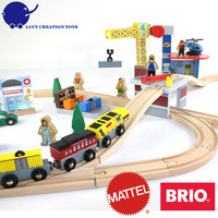 New Popular 70 pcs Crane Farm Railway Magnetic Wooden Thomas Train Toy