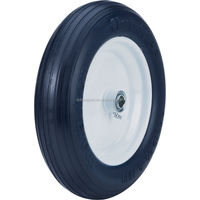 flat free tire 4.00-8 wheel barrow wheel hard rubber wheels