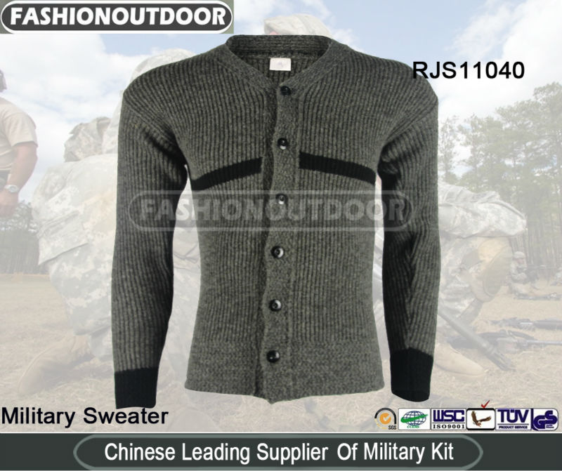 100% Wool 2013 Winter New style Military Sweater