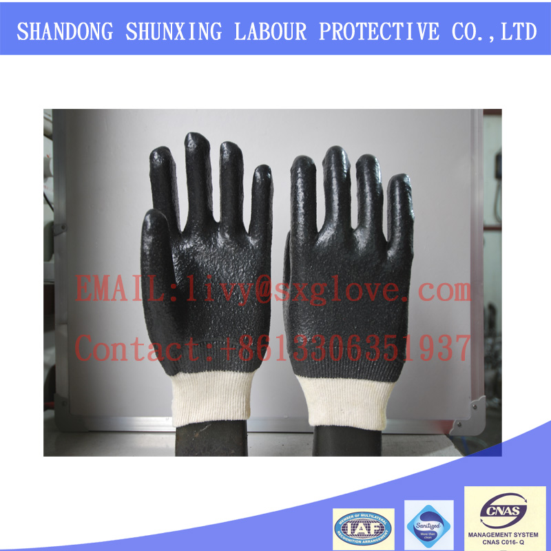 hot sale China PVC construction working safety glove