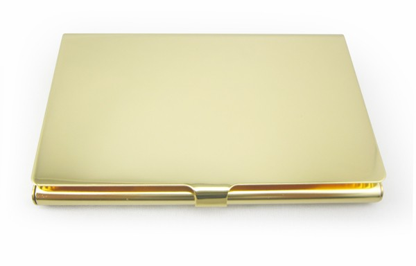 Gold plated stainless steel mirror name card box for giftplatinum platinum business card holder colourmoves