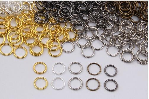 DIY findings 4/5/6/7/8/9/10mm silver gold gunmetal plated jewelry findings accessories components jump rings