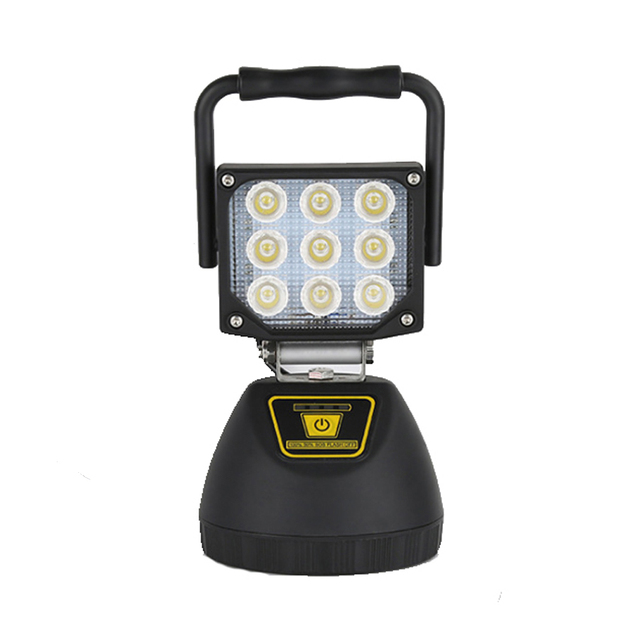 27w more than 5 hours discharging time portable led battery work light with magnetic base