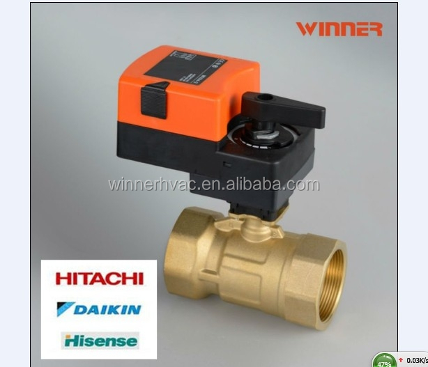 2 way 3/4'' motorized water flow control valve,15mm electronic brass ball valve