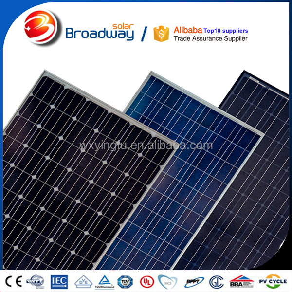 2017 New Type Mono 170W 160W 150W solar panel parts for home used