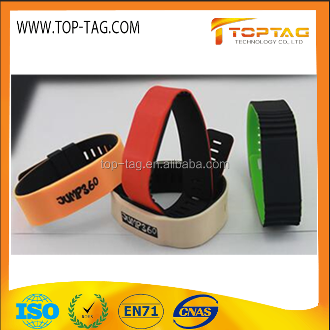 Fashion Silicone RFID Smart Wristband Tag, ISO Standard Party Event NFC Bracelet