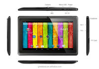 7 inch Allwinner A33 Tablet Quad core 512MB/4GB mini Cheap Android 4.4 Tablet PC Q88