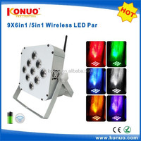 9*6in1 leds rgbawuv battery powered wireless uplight for wedding stage decoration