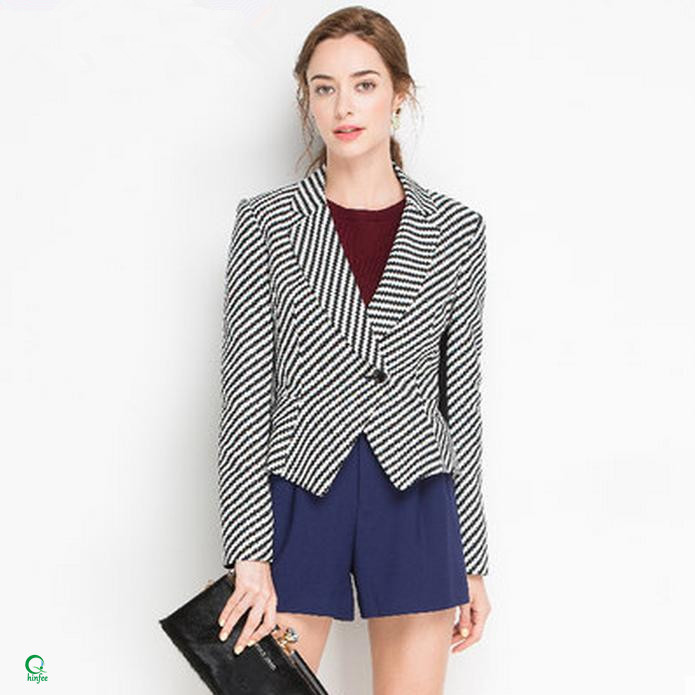 WB002 High Quality Suits Designs Slim Fitted Blazer Women