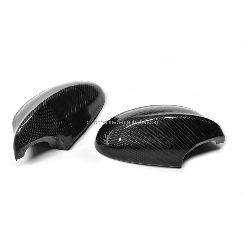 Full Replacement Glossy Carbon Fiber Side Mirror Cover Cap for BMW E90 E91 320 328 335D 05-08