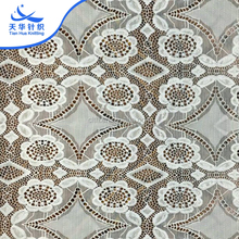 TH-8863 Clothing Decoration Elastic Sequence Plain Border White Lace Fabric