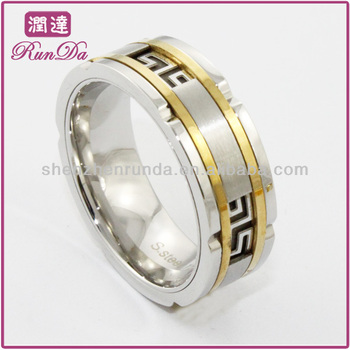 wholesale men like stainless steel jewelry ,fashion men rings gold plated rings