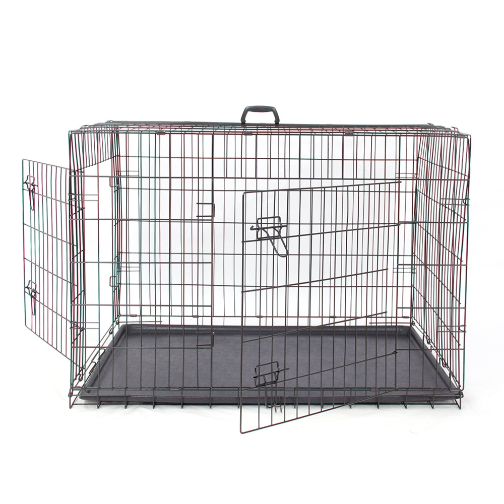 Hot Sale Fashionable Folding Portable Large Size Stainless Steel Big Dog Cage For Sale