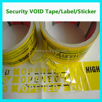 custom tamper evident packaging void tapes;tamper seal tape