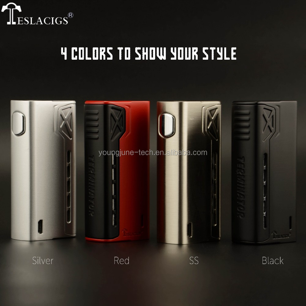 2017 Newest Teslacigs Terminator 90W compact unregulated mod