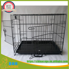 2017 New double doors folding metal dog cage kennel for pet,popular on Amazon