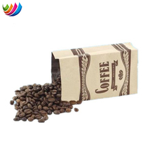 Aluminum foil paper flat bottom coffee bean packaging bag with valve
