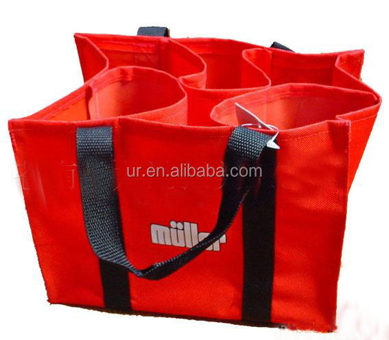 Eco friendly PP non woven single bottles wine bag wine tote bag