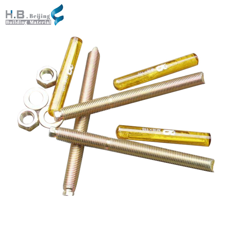 China manufacturer supply fast cure m8 to m30 foundation stainless steel chemical anchor