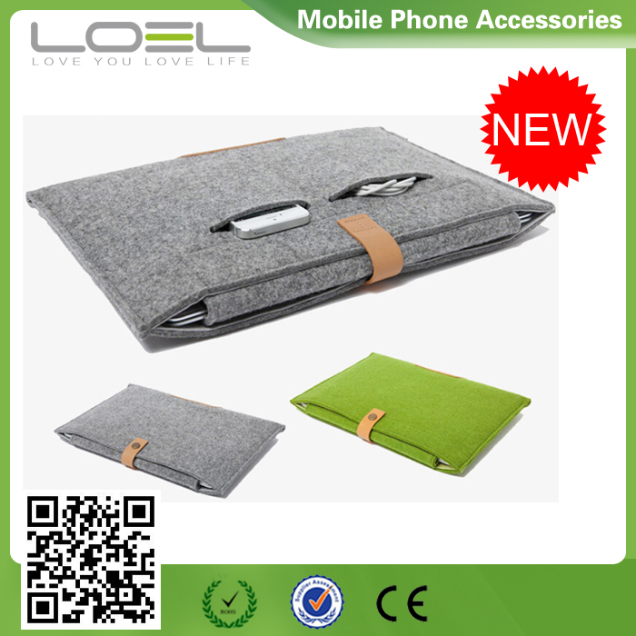 2015 Hot Sell Woolen Felt Ultrabook Cases For IPad Air/Air 2 Sleeve Case