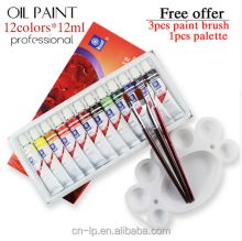 12colors 12ml Professional quality oil paints art for artists Canvas Pigment Art Supplies Drawing oli paint set