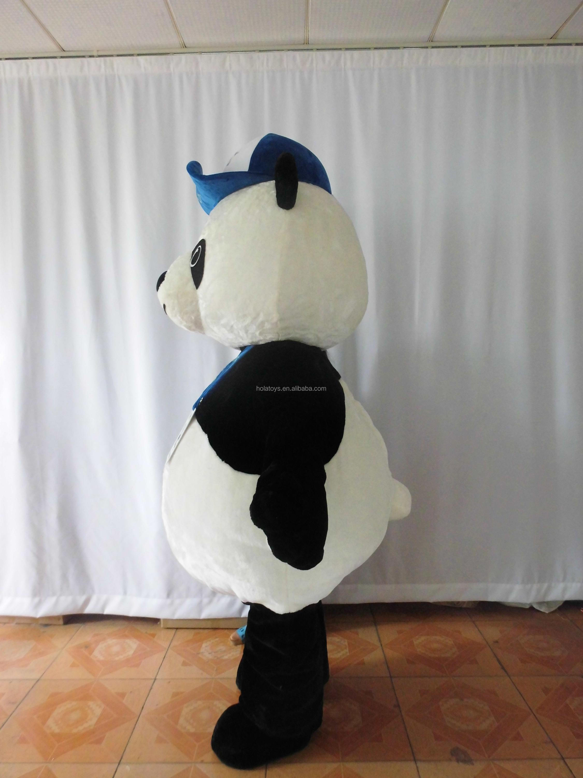 HOLA new panda mascot costume/adult panda cartoon mascot costume for sale