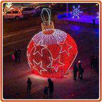 D:6M large red christmas light motifs