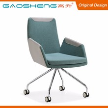 High Durability Soft Fabric Padded Office Chair With Wheels