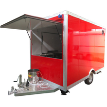 Mini square truck food mobile coffee kiosk cart